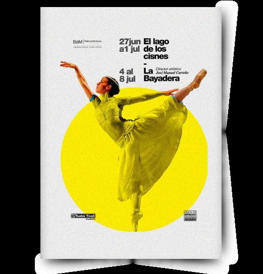 diseño de poster para ballet de monterey