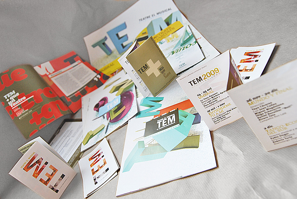 Imagen corporativa y brochures de programacion TEM