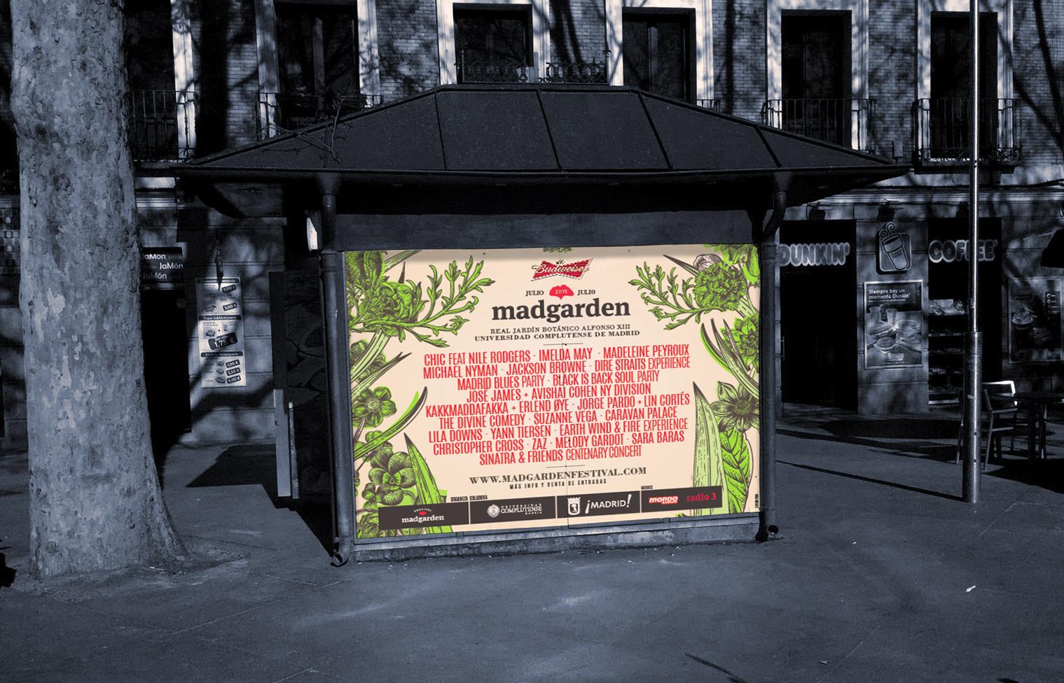 diseño de poster para madgarden