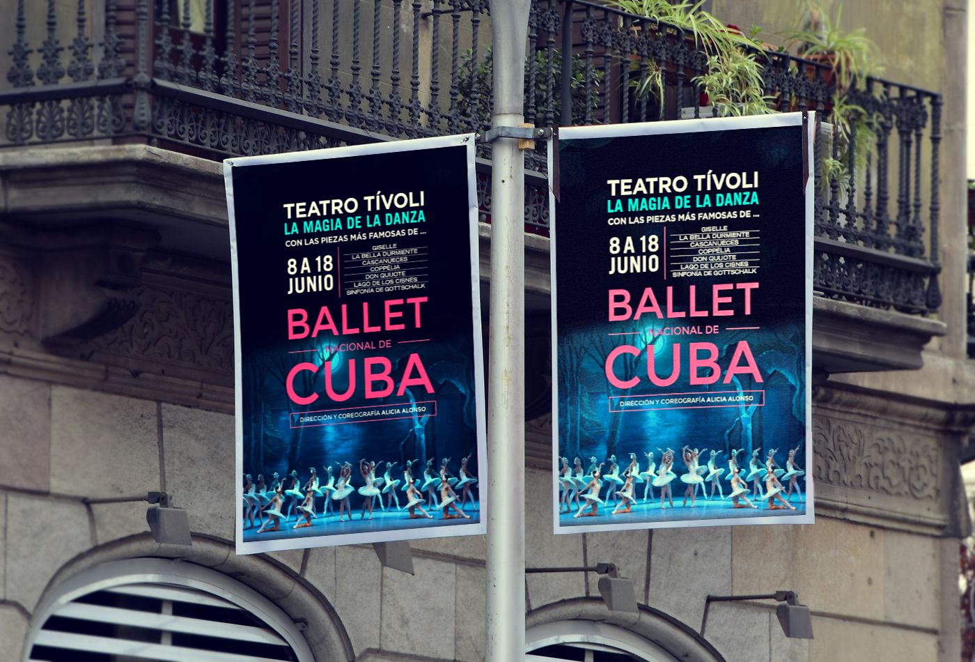 diseño de poster balet de cuba