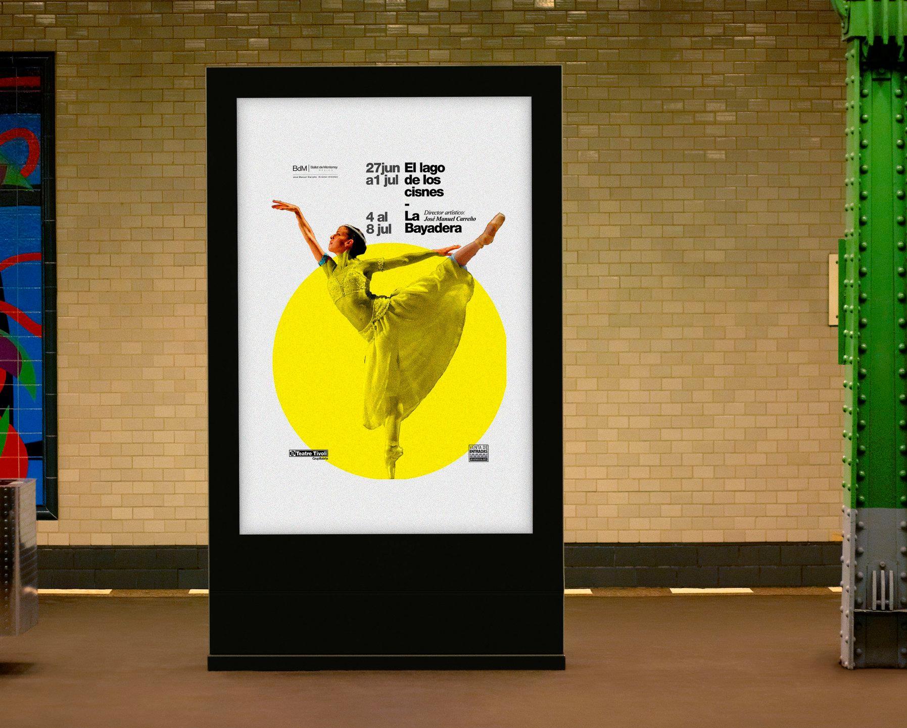 Diseño de poster ballet de monterey en Barcelona