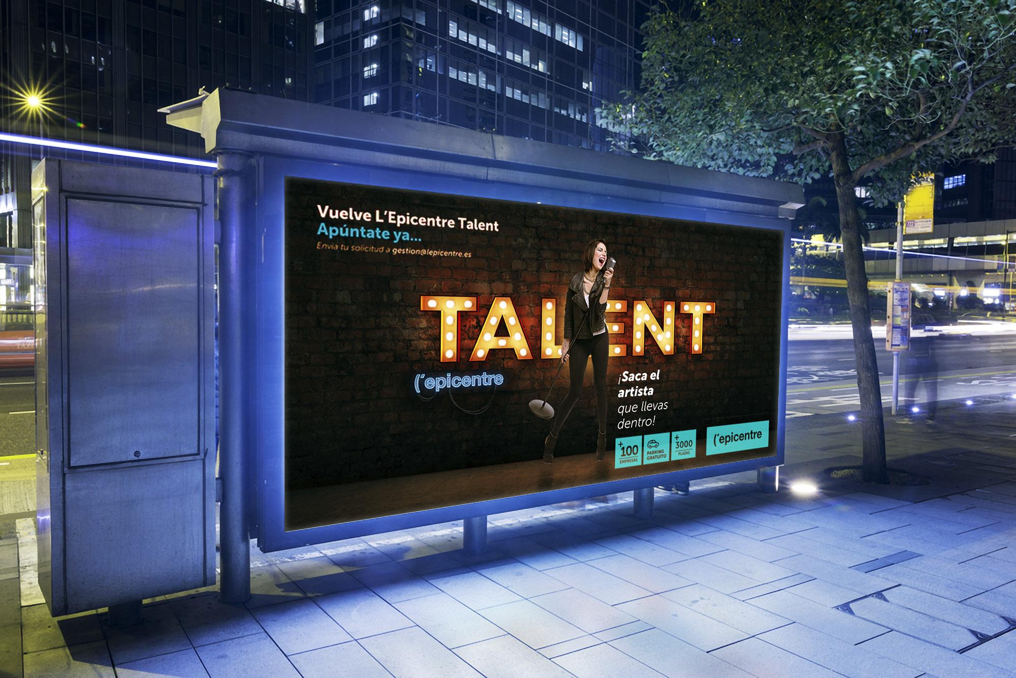 Publicidad y diseño grafico para L´epicentre centro comercial