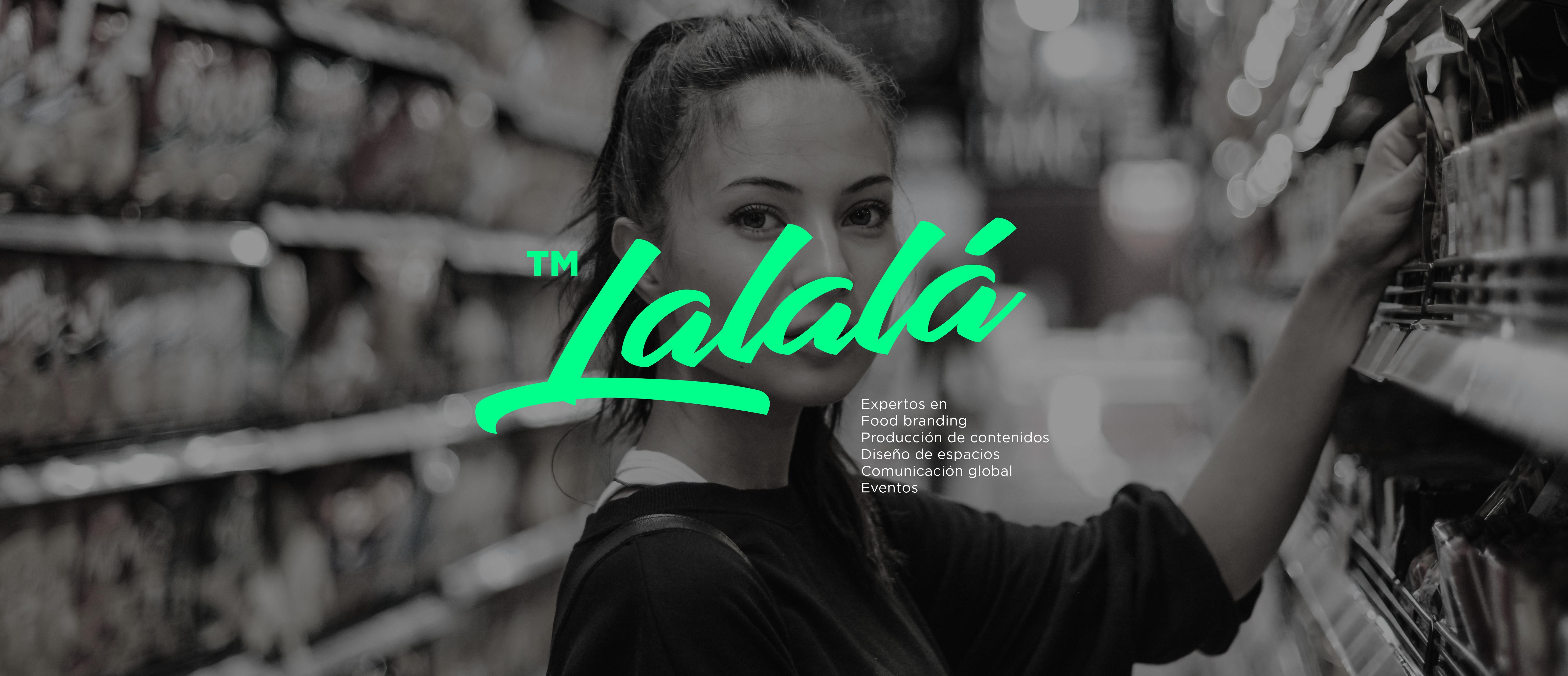 Portada de website diseñado por Legrafico para Lalala food brands