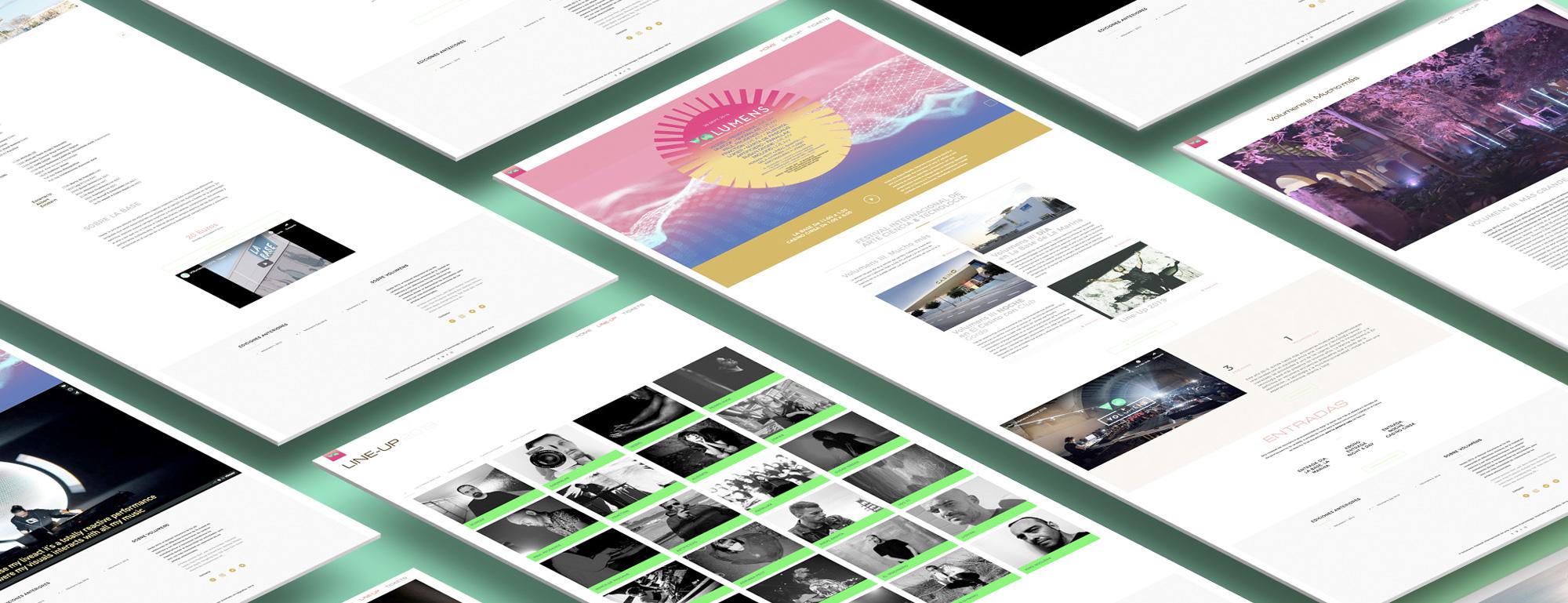 Website de volumens festival por Legrafico ™ Estudios de diseño grafico en Valencia